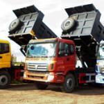 Открытая перевозка сыпучих грузов самосвалами