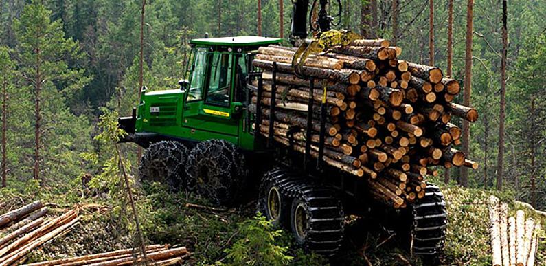 Лесозаготовительная техника Джон Дир